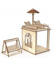 Конструктор Пристройка с мебелью и качелями ХэппиДом