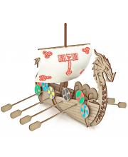 Конструктор из дерева Корабль Викингов Драккар ХэппиДом