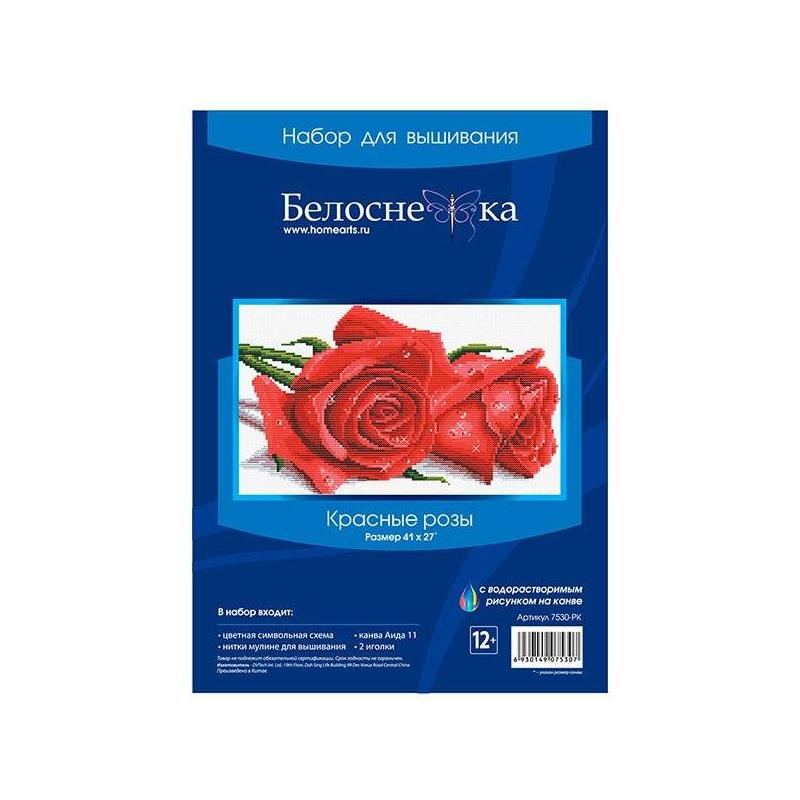 Белоснежка Набор для вышивания Красные розы