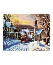 Набор для вышивания Зима в городке