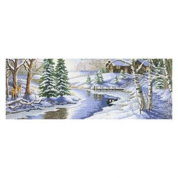 Набор для вышивания Зимняя речка