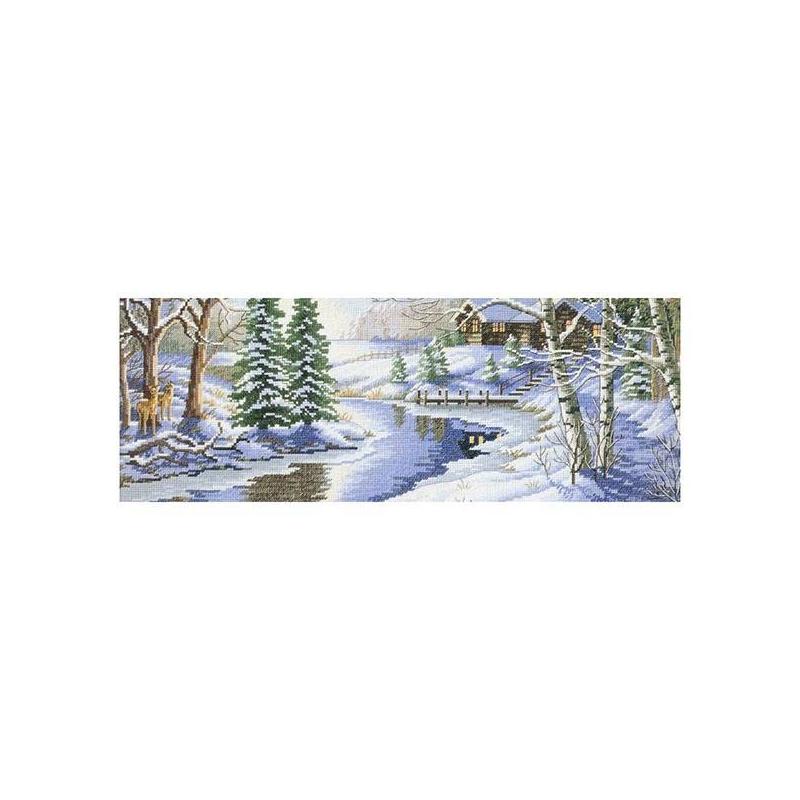 Белоснежка Набор для вышивания Зимняя речка vervaco набор для вышивания лицевой стороны наволочки белый шиповник 40 40см