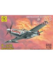 Модель самолет американский истребитель P-51D Мустанг МОДЕЛИСТ