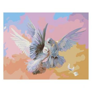 Картина по номерам Полет белых голубей