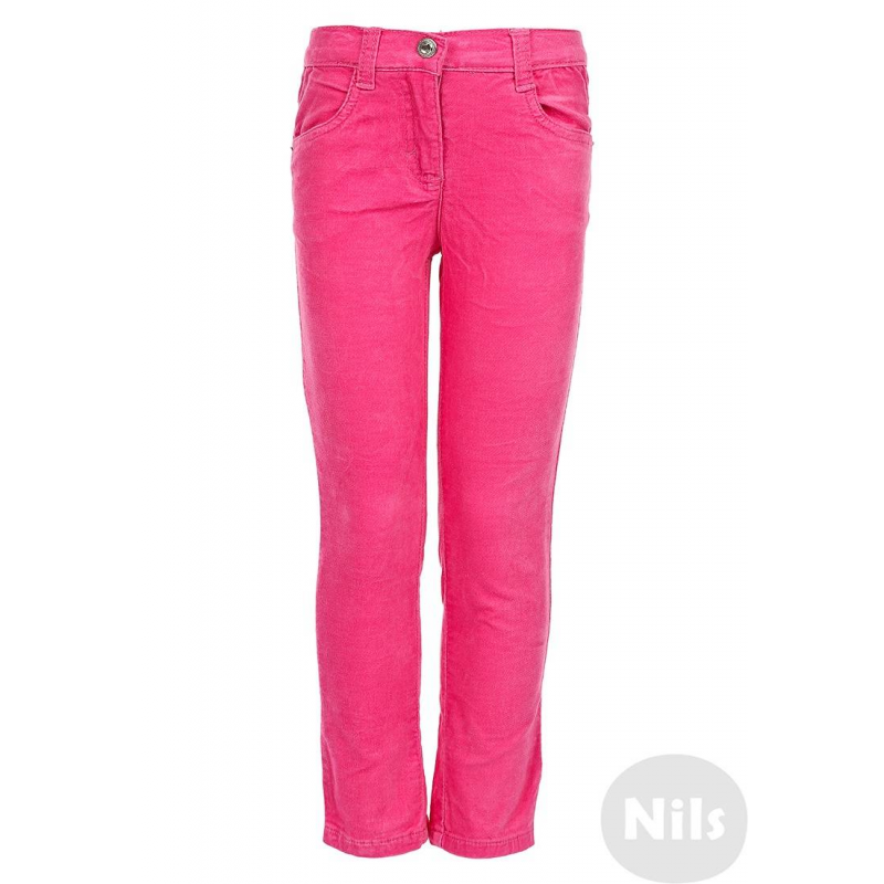 БрюкиЯрко-розовые брюки марки BLUE SEVEN для девочек. Мягкие брюки из бархатистого материала с небольшим добавлением эластана. Есть два кармана спереди и два задних кармана. Брюки застегиваются на молнию и застежку-крючок. Регулируемый специальными пуговицами пояс обеспечивает отличную посадку.<br><br>Размер: 2 года<br>Цвет: Розовый<br>Рост: 92<br>Пол: Для девочки<br>Артикул: 604347<br>Страна производитель: Бангладеш<br>Сезон: Всесезонный<br>Состав: 98% Хлопок, 2% Эластан<br>Бренд: Германия