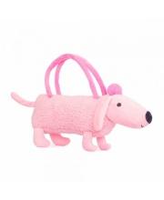 Собачка-сумочка розовая 35 см