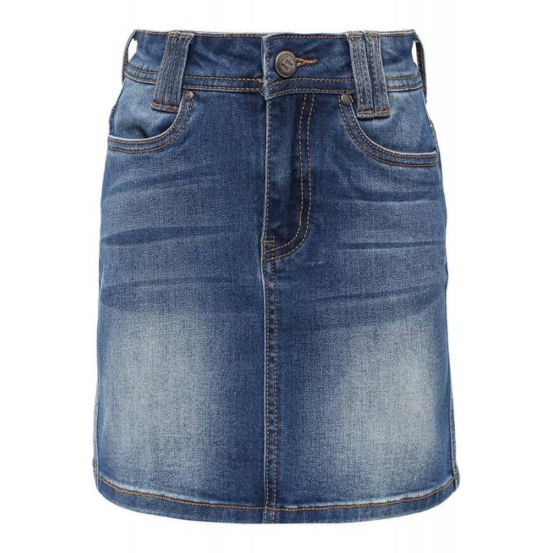 Джинсовая юбкаДжинсовая юбка голубогоцвета марки Finn Flare.<br>Юбка прямого кроя дополнена передними и задними карманами, шлейками для ремня, а также декоративными потертостями.<br><br>Размер: 7 лет<br>Цвет: Голубой<br>Рост: 122<br>Пол: Для девочки<br>Артикул: 640436<br>Страна производитель: Китай<br>Сезон: Весна/Лето<br>Состав: 72% Хлопок, 23% Полиэстер, 3% Вискоза, 2% Эластан<br>Бренд: Финляндия<br>Вид застежки: Молния