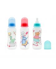 НД Бутылочка для кормления с молочной соской Just LUBBY 250 мл в ассортименте Lubby