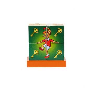 Игрушки, Игрушка Кубики-пирамидки Буратино Играем Вместе 633155, фото