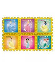 Коврик-пазл Принцессы Disney 6 деталей Играем Вместе
