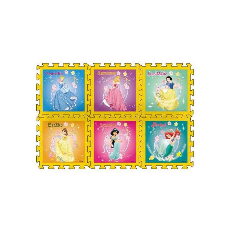 Коврик-пазл Принцессы Disney 6 деталей