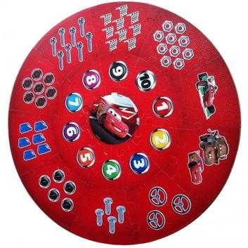 Игрушки, Круглый коврик-пазл Тачки 21 деталь Играем Вместе 635073, фото