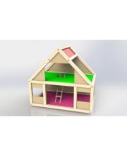 Домик деревянный для кукол до 10 см Мила Соколов