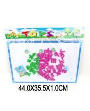 Доска для рисования 29х43 см с набором букв и цифр маркер+мел в ассортименте Наша Игрушка