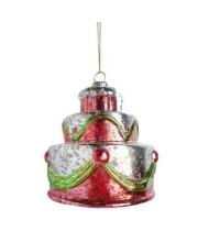 Елочное украшение Торт 75 мм Новогодняя сказка