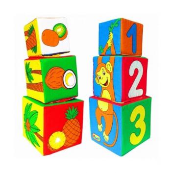 Игрушки, Кубики Умная мартышка Мякиши 633228, фото