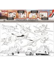 Коврик-раскраска защитный для стола Самолеты Дисней Десятое королевство