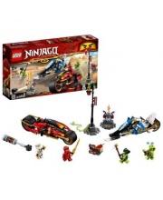 Конструктор Ninjago Мотоцикл-клинок Кая и снегоход Зейна LEGO