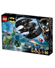 Конструктор Super Heroes Бэткрыло Бэтмена и ограбление Загадочника LEGO