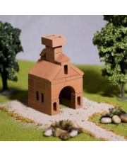 Конструктор керамический Изба 37 деталей Брикмастер