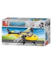 Конструктор серии Авиация Тренировочный самолет 110 деталей SLUBAN