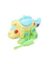 Конструктор-скрутка Динозавр отвертка в комплекте Наша Игрушка