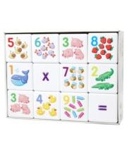 Кубики Арифметика 12 штуки Десятое королевство