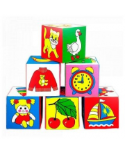 Кубики Предметы в ассортименте Мякиши