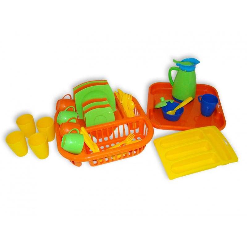 Полесье Набор посуды с сушилкой и подносом Алиса полесье набор для песочницы 406