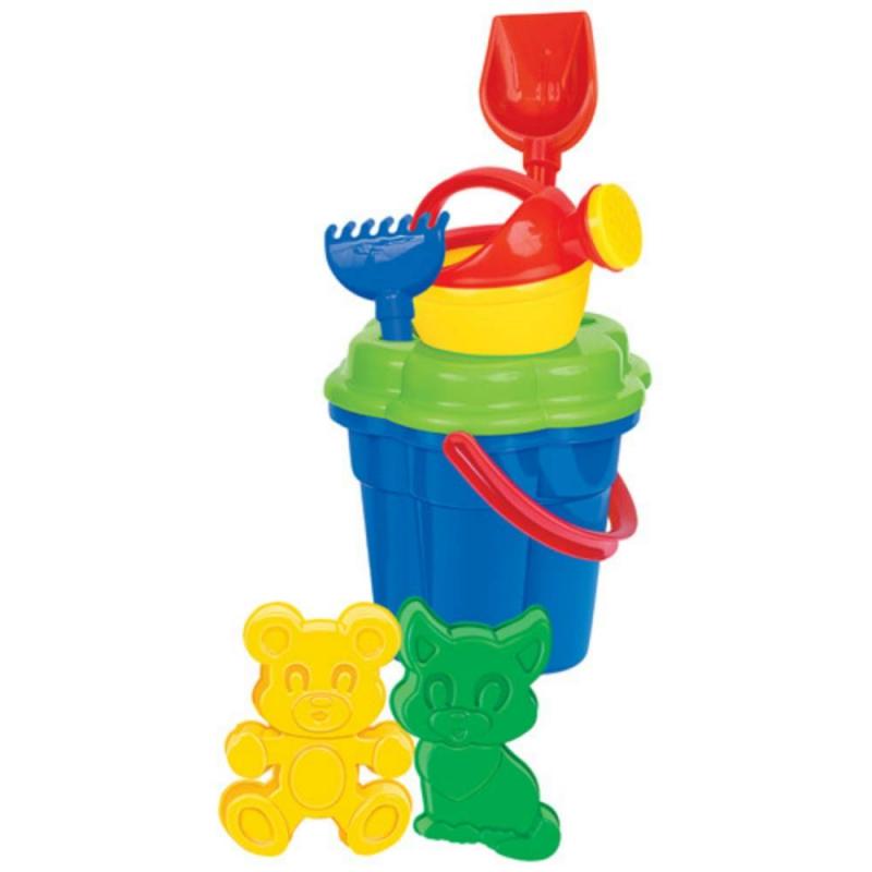 Набор для песочницы №165Набор для песочницы№165 марки Полесье. Игровой набор выполнен в ярких, привлекающих внимание ребенка цветах. Все элементы игрушки выполнены из высококачественного, ударопрочного пластика. Подходит для детей в возрасте от 2х лет.<br>Комплектация:ведро-цветок, ситечко-цветок, лопатка, грабельки, формочки в виде котёнка и медведя, лейка.<br><br>Возраст от: 2 года<br>Пол: Не указан<br>Артикул: 634137<br>Бренд: Белоруссия<br>Размер: от 2 лет