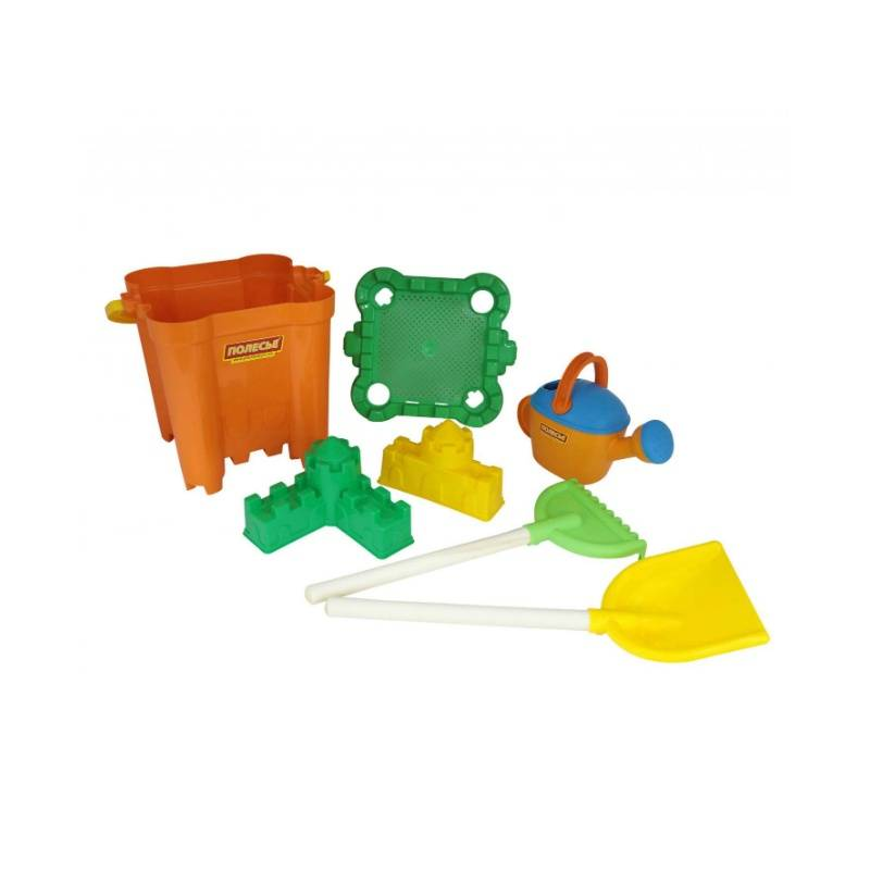 Набор для песочницы №476Набор для песочницы№476 марки Полесье. Игровой набор выполнен в ярких, привлекающих внимание ребенка цветах. Все элементы игрушки выполнены из высококачественного, ударопрочного пластика. Подходит для детей в возрасте от 2 лет.<br>Комплектация:ведро-крепость, сито-крепость, лопата, грабли, 2 формочки, лейка.<br><br>Возраст от: 2 года<br>Пол: Для мальчика<br>Артикул: 635033<br>Бренд: Белоруссия<br>Размер: от 2 лет
