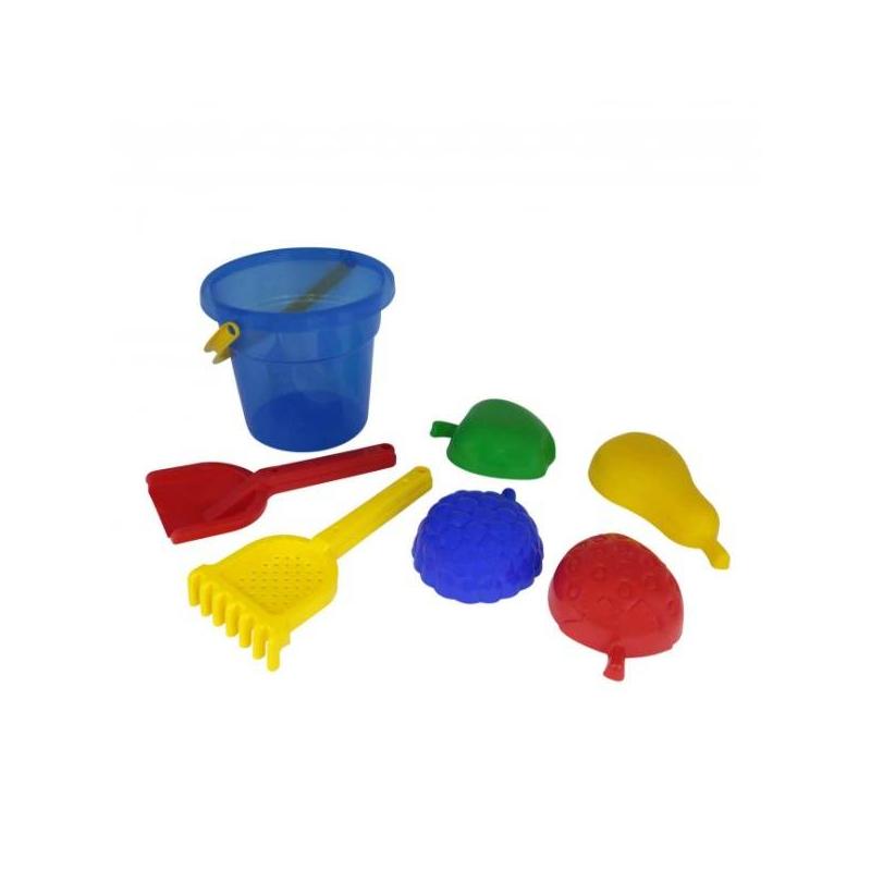 Набор для песочницы №406Набор для песочницы№406 марки Полесье. Игровой набор выполнен в ярких, привлекающих внимание ребенка цветах. Все элементы игрушки выполнены из высококачественного, ударопрочного пластика. Подходит для детей в возрасте от 2 лет.<br>Комплектация:ведро, лопатка, грабельки, 4 формочки в виде фруктов.<br><br>Возраст от: 2 года<br>Пол: Не указан<br>Артикул: 634140<br>Бренд: Белоруссия<br>Размер: от 2 лет
