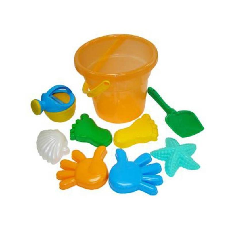 Набор для песочницы №354Набор для песочницы№354 с ведерком оранжевого цвета марки Полесье. Игровой набор выполнен в ярких, привлекающих внимание ребенка цветах. Все элементы игрушки выполнены из высококачественного, ударопрочного пластика. Подходит для детей в возрасте от 2 лет.<br>Комплектация:ведро, лопатка, 6 формочек, лейка.<br><br>Цвет: Оранжевый<br>Возраст от: 2 года<br>Пол: Не указан<br>Артикул: 635034<br>Бренд: Белоруссия<br>Размер: от 2 лет