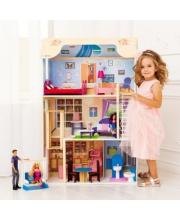 Кукольный домик Грация для кукол до 30 см 16 предметов мебели лестница лифт PAREMO