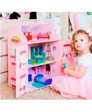 Кукольный домик Милана для кукол до 15 см 15 предметов мебели PAREMO