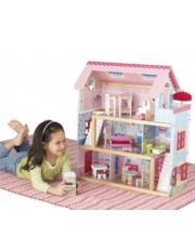 Кукольный домик Открытый коттедж для кукол до 15 см с мебелью 19 элементов KidKraft