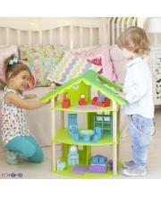Кукольный домик Фиолент для кукол до 15 см 14 предметов мебели PAREMO