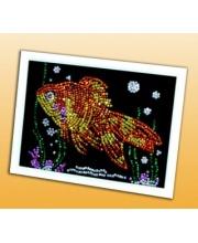 Мозаика из пайеток Золотая рыбка Волшебная мастерская