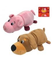 Мягкая игрушка Вывернушка 2в1 Собака-Свинья 20 см 1Toy