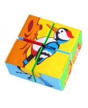 Кубики Собери картинку Птицы Мякиши