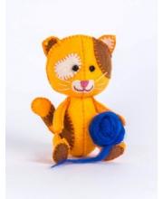 Набор для изготовления текст игрушки Котёнок Рыжик Перловка