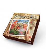 Набор для творчества Decoupage clock с рамкой Часы Данко-Тойс