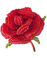 Набор для творчества Цветы из бисера Алая роза Клевер Медиа Групп