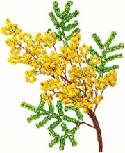Набор для творчества Цветы из бисера Мимоза Клевер Медиа Групп