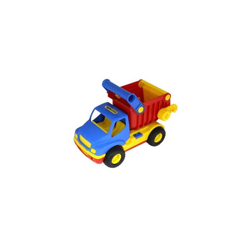 Самосвал КонсТракИгрушка Самосвал КонсТракжелтогоцвета марки Полесье.<br>Игрушечный Самосвал полностью изготовлен из ударопрочной пластмассы, имеет подвижные части. У машинки открывается кабина, в нее можно посадитьигрушечного водителя. Кузов у игрушки активные, можно перевозить небольшие предметы. Модель оснащена большими колесами с протекторами.<br><br>Цвет: Желтый<br>Возраст от: 3 года<br>Пол: Для мальчика<br>Артикул: 641919<br>Бренд: Белоруссия<br>Размер: от 3 лет