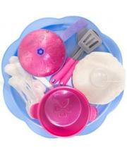 Набор посуды Волшебная Хозяюшка 23 предмета на подносе Нордпласт