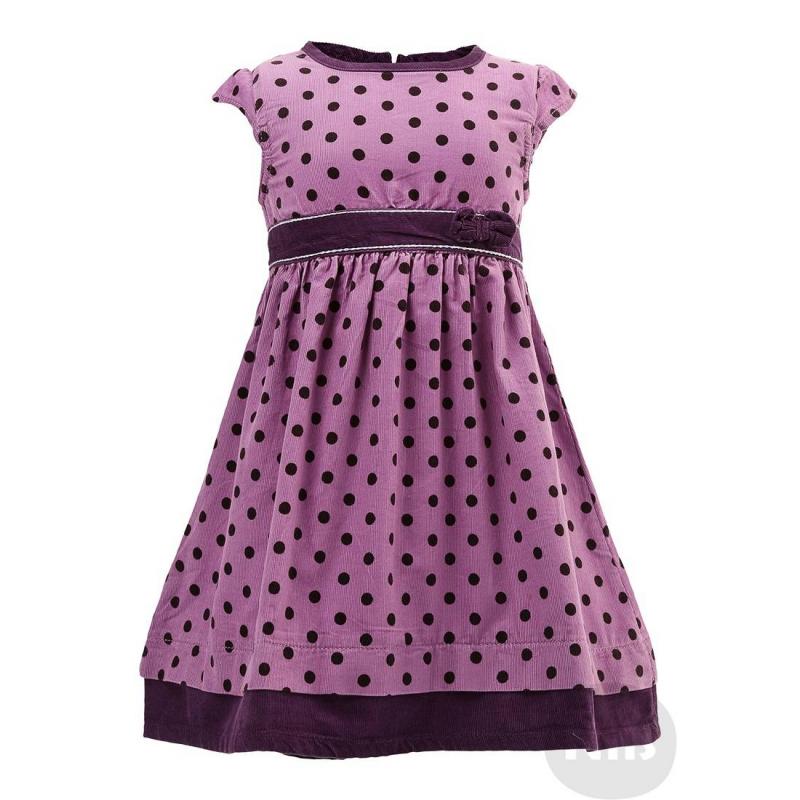 ПлатьеВельветовое платье сиреневого цвета марки BLUE SEVEN. Платье с короткими рукавами и юбкой со сборками сшито из мягкого вельвета в горошек. Пояс украшен бантиком. Платье застегивается на молнию на спинке.<br><br>Размер: 6 месяцев<br>Цвет: Сиреневый<br>Рост: 68<br>Пол: Для девочки<br>Артикул: 604526<br>Бренд: Германия<br>Страна производитель: Бангладеш<br>Сезон: Всесезонный<br>Состав: 100% Хлопок<br>Вид застежки: Молния