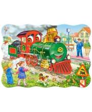 Пазлы 30 Midi Зеленый локомотив Кастор