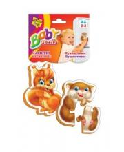 Пазлы магнитные Baby puzzle Пушистики Vladi Toys