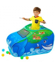Палатка игровая Чудо Кит в комплекте пластмассовые шарики 20 штук Наша Игрушка